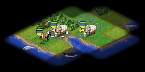 首都のための開拓者移動